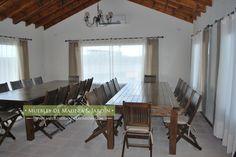mesa y sillas Quincho