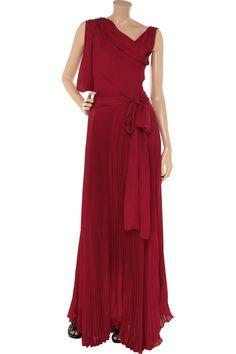 Julie Haus, Bernie pleated silk gown. Very Greek goddess!
