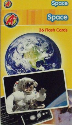 A+ Space 36 full color flash cards Color Card, Space Program, Baseball Cards, Education, Games, Learning, Toys, Creative, Pictures