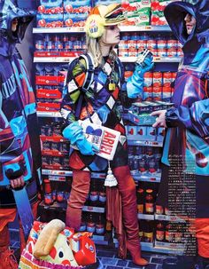 """""""My Market Day"""" Lindsey Wixson and Hanne Gaby Odiele by Giampaolo Sgura for Vogue Japan October 2014"""