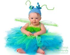 Dragonfly outfit for a little girl