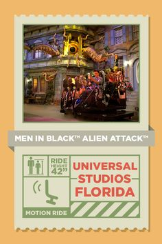 Get ready to zap aliens out of the streets of New York in this interactive ride made for the entire family! MEN IN BLACK Alien Attack allows you to bring out your competitive side because in the end your score determines the outcome. Good luck rookies!