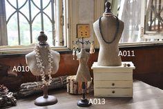 Maniquí joyas pantalla, soporte de la joyería estilo Vintage, decoración del hogar mesa