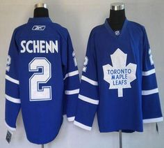 Maple Leafs #2 Luke Schenn Blue Embroidered Youth NHL Jersey