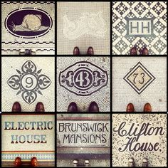 9 mosaic doorsteps around central London.