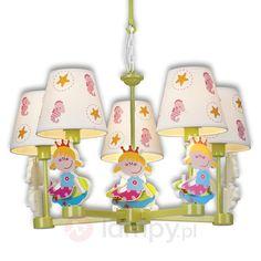 Zabawna dziecięca lampa wisząca NICETTY, 5-pkt. 8574142