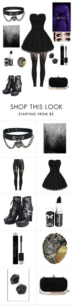 """if I was goth (tag)"" by miazoom442 ❤ liked on Polyvore featuring Christian Dior and Queensbee"