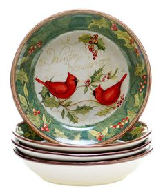 Look what I found on #zulily! Cardinal 'Winter Wonder' Soup Bowl by Certified International #zulilyfinds