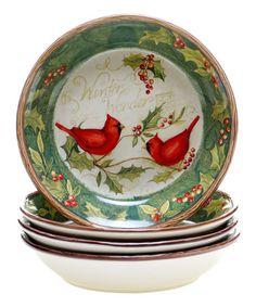 Look what I found on #zulily! Cardinal 'Winter Wonder' Soup Bowl by Certified International #zulilyfinds