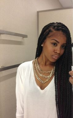 Protective style box braids