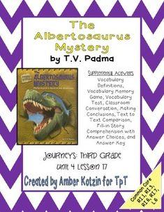 The Albertosaurus Mystery Activities 3rd Grade Journeys (Common Core)
