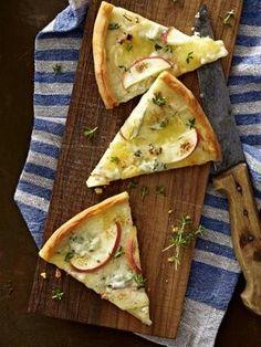 Apfel-Pizza mit Gorgonzola Rezept
