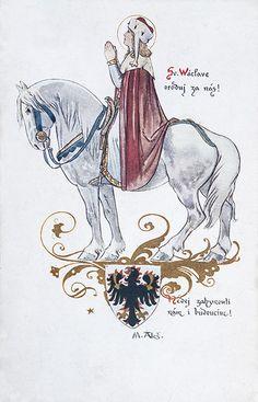 Mikoláš Aleš: Svatý Václave, oroduj za nás http://www.herbia.cz/products-page/pohlednice/umelecke/page/15/
