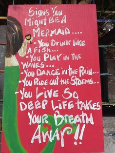 RhondaK ORIGINAL Signs You Might be a Mermaid...Series written by RhondaK herself....