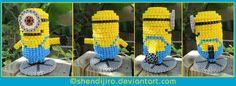 3D Minion perler beads -  With DIY Video Tutorial by Shendijiro