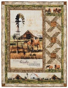 Jennifer Pugh's Greener Pastures Collection is spectacular in this Exclusive Quilt Kit by Keepsake.