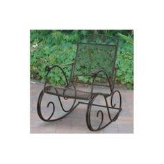 Wrought Iron Rocking Chair Vintage Patio Swing Outdoor Garden Furniture Porch