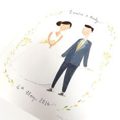 personalised wedding portrait by victoria whincup illustration | notonthehighstreet.com