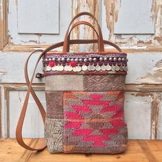 boho bag-kilim bag-tote bag-shoulder bag-tribal bag-carpet