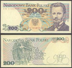 1974 series Polish banknote, featuring Jarosław Dąbrowski on the obverse side, and the Paris Commune Monument to the Dead on the reverse side. Make Money Fast, Make Money Online, Money Template, Online Writing Jobs, Euro Coins, Really Cool Stuff, Poland, Vintage World Maps, Things To Come