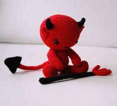 Amigurumi Baby Devil by Pepika, via Flickr