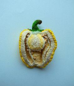 Beautiful Crochet Art by Hipota: Pepper #FoodArt.