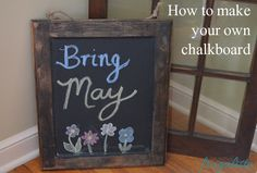 How to Make Your Own Chalkboard #diy #crafts http://crunchyfrugalista.com/?p=16077
