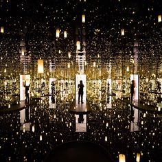 An interactive exhibit called 'Infinity Mirrors' by Japanese artist Yayoi Kusama is on display at the Hirshorn Museum in Washington, DC, until May 14, 2017. ⠀ ⠀ Photograph by Jim Lo Scalzo—EPA.  via ✨ @padgram ✨(http://dl.padgram.com)