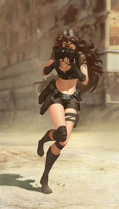 Sense or Sensuality — The Art of Puzzle Lee Anime Military, Military Girl, Chica Fantasy, Fantasy Girl, Female Character Design, Character Art, Mädchen In Uniform, Cyberpunk Art, Cg Art