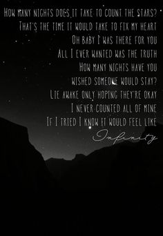 """Infinity"" - One Direction is dedicated to my best friend Emily. We got into a bad fight and she deactivated. I really love her and this song really is just... us I guess. I really hope she comes back soon... xx -danni"