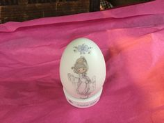 Vintage Precious Moments Easter Egg / Enesco 1990 by SunshineVintageGoods on Etsy