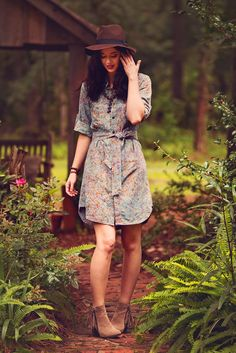Tried And True Shirtwaist Batik Dress