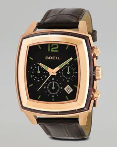 Orchestra Embossed-Strap Watch, Rose Gold by Breil at Neiman Marcus.