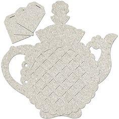 Fabscraps Teapot Die-Cut Chipboard Album, 9.5? by 9?, Grey Review