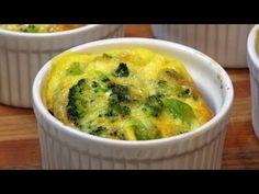 Crustless Broccoli-Cheddar Quiches -- Lynn's Recipes - YouTube