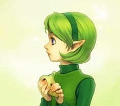 Legend of Zelda: Ocarina of Time Saria fanart