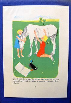 Vintage French children's book illustration