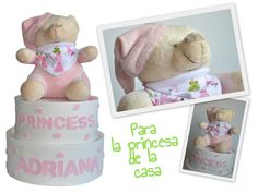 ¿Se os ocurre una tarta de pañales más adecuada para la princesa de la casa?, entra en http://www.mibbtarta.es/producto/tarta-prince-princess/ y descúbrela también para niño. #tartadepañales #tartasdepañales #regalobebe #regalosoriginales #canastilla