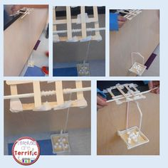 STEM Challenge: Two groups working together to build a rescue device. Each group…