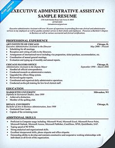 Executive Administrative Assistant Resume Example Administrative Assistant  Resume Should Be Well Noticed  Sample Administrative Assistant Resumes