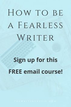 Are you struggling to write your book? Is fear and/or doubt holding you back from finishing it? In this free email course, you'll learn how to be a fearless writer by changing your mindset and writing what you love.