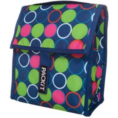 PackIt Freezable Lunch Bag Forget Me Not Dot for sale online Reusable Lunch Bags, Lunch Tote, Mini Cooler, School Lunch Box, School Lunches, School Office, Eco Friendly Bags, Mini Fridge, Refrigerator