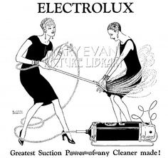 ELECTROLUX ADVERT 1927 from Prints-online: Beautiful posters, prints and merchandise with a historical theme., Adverts, Adverts and Posters c/o Media Storehouse: Wall Art, Prints and Photo Gifts