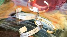 Hand Stamped Bracelet, Custom bracelet, Personalized bracelet, Stamped bracelet  Add any favorite inspirational quote or name to this