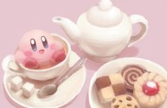 lil' puffball (Who cares about tea? I want sugar cubes and cookies, poyo!)
