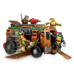 I have always been a fan of Teenage Mutant Ninja Turtles. My brother and I would run around the yard pretending to be one of the TMNT. I was typically Donatello and my brother was Michelangelo. Ninja Turtle Shells, Ninja Turtle Toys, Ninja Turtles Action Figures, Teenage Mutant Ninja Turtles, Toys R Us, New Toys, Tmnt, Diy Toy Storage, Toy Story Cakes