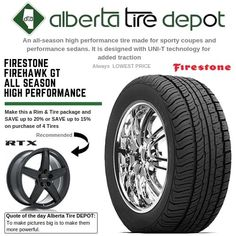 Firestone Firehawk GT All Season High Performance Tyre Companies, Firestone Tires, Service Map, Seasons, Seasons Of The Year