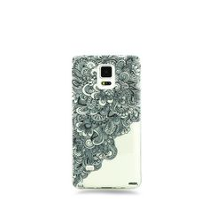 Milky Way Clear TPU Case for Samsung Galaxy Note 4 - Floral Wave