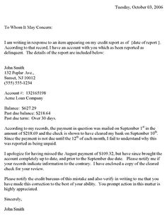 10 best complaint letters images on pinterest letter example cv free printable credit dispute letter that can be used as a sample letter for responding to a credit agency spiritdancerdesigns