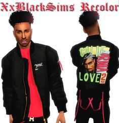 XxBlacksims — Bomber Jacket recolors hope you all like. Sims 4 Men Clothing, Sims 4 Male Clothes, Men Clothes, The Sims, Sims Cc, Sims 4 Game Mods, Sims 4 Mods, Bearded Tattooed Men, Bearded Men